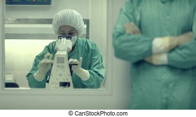 Lab staff, pharmaceutical industry