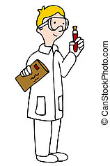 Lab Technician - An image of a lab technician looking at a...