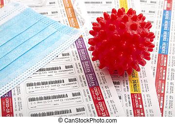 Lab virus blood test concept
