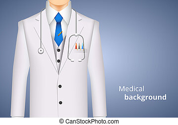 lab white coat medical background - doctor white coat, ...