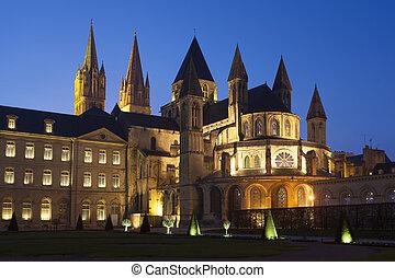 L'Abbaye-aux-Hommes, Church of Saint Etienne, Caen,...