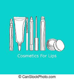 labbra, cosmetica