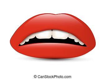 labbra, rosso
