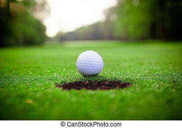 labbro, palla, golf, tazza