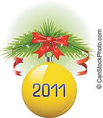 labda, 2011, karácsony, sárga