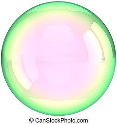 labda, buborék, áttetsző