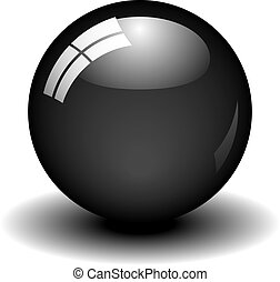 labda, fekete