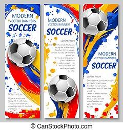 labda, foci játék, sport, sablon, futball, transzparens