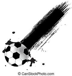 labda, futball, grunge, háttér
