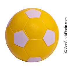 labda, futball, sárga