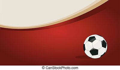 labda, futball, vektor, ábra