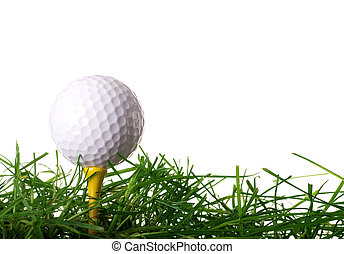 labda, golf elkezdődik