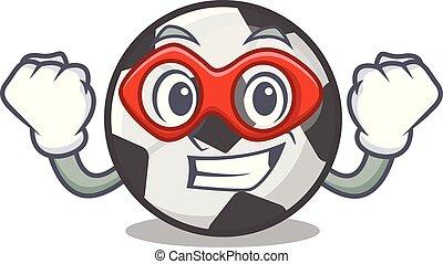 labda, hős, elszigetelt, futball, szuper, kabala