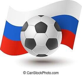 labda, helyett, futball, noha, orosz lobogó