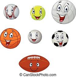 labda, karikatúra, gyűjtés