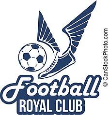 labda, klub, labdarúgás, vektor, futball, kasfogó, ikon