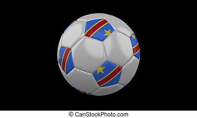 labda, kongó, labdarúgás, vakolás, lobogó, köztársaság, demokratikus, 3