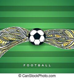 labda, labdarúgás, háttér., futball, transzparens, ball.