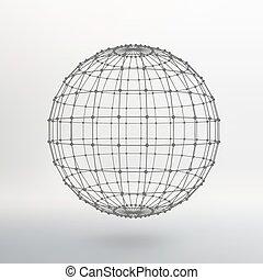 labda, lattice., adottság, dots., megvonalaz, műterem,...