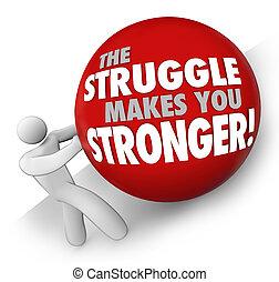 labda, nehéz, erősebb, állomány, harc, rámenős, ön, munka, készítmény, ember