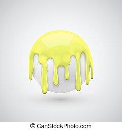 labda, noha, festék, savanyúcukorka, yellow.