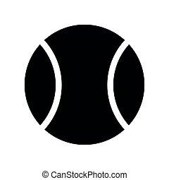 labda, tenisz, jelkép