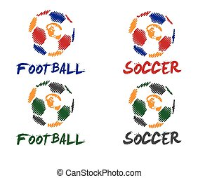 labdarúgás, és, futball, ábra