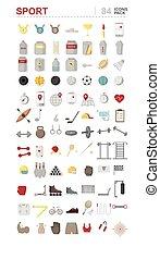 labdarúgás, felszerelés, szív, medals, ikonok, félcédulások, konzervál, sport, karóra, öltözék, fehérje, arány