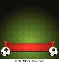 labdarúgás, futball, vektor, háttér