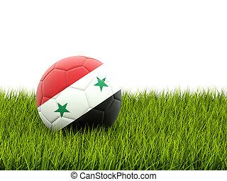 labdarúgás, noha, lobogó, közül, szíria