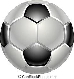 labdarúgás, vagy, focilabda, ikon