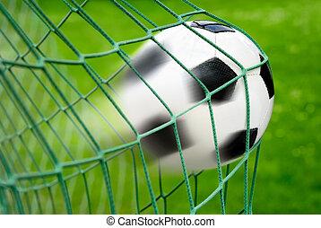 labdarúgás, vagy, futball kapu