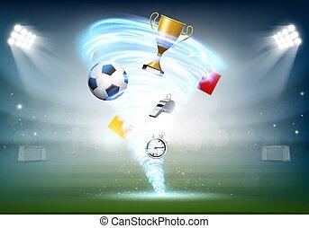 labdarúgás, világbajnokság, és, focilabda