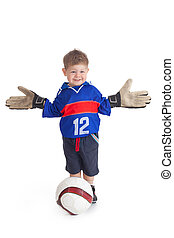 labdarúgó, fiatal