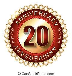 label., anni dorati, anniversario, 20