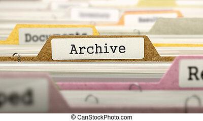 label., archive, concept, fichier