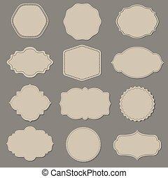 Label Big Set, Vector Illustration