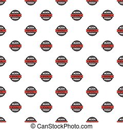Label black friday fifty percent sale pattern
