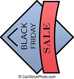 Label black friday sale color gradient vector icon