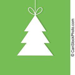 label, boompje, kerstmis