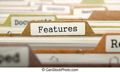 label., caractéristiques, concept, fichier
