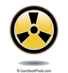 Sticker radiation hazard symbol