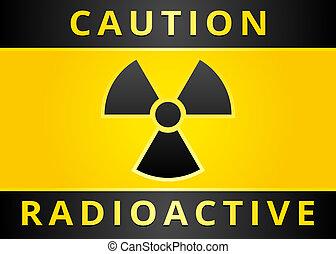 Label caution sign. Sticker radiation hazard symbol