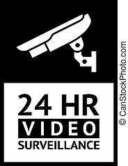 label CCTV - Warning Sticker for Security Alarm CCTV Camera...