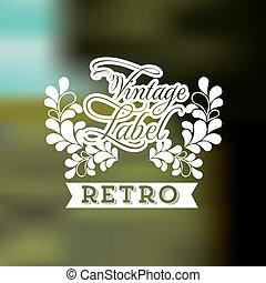 Label design over blur background,vector illustration