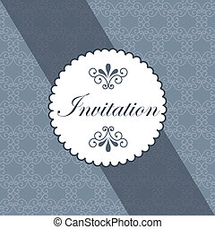Label design over gray background, vector illustration