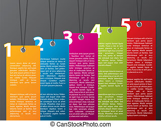 Label design template - Colorful hanging label set with ...