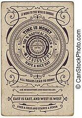 Label design vector antique frame vintage border western retro vector