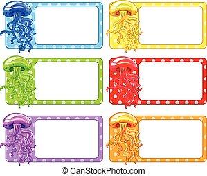 Label design with jellyfish