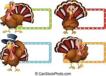 Label design with wild turkey